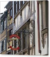 Le Tire Bouchon Winstub Sign Canvas Print