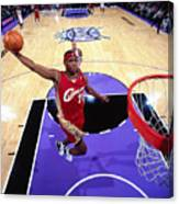 Lebron James Goes For A Dunk Canvas Print