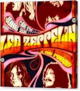 Led Zeppelin 72 Tour Canvas Print