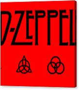 Led Zeppelin Z O S O - Transparent T-shirt Background Canvas Print