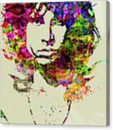 Legendary Jim Morrison Watercolor Canvas Print