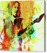 Legendary Kirk Hammett Watercolor Canvas Print
