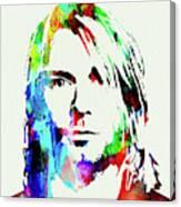 Legendary Kurt Cobain Watercolor Canvas Print
