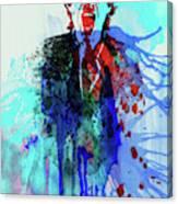 Legendary Mick Jagger Watercolor Canvas Print