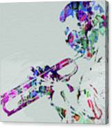 Legendary Miles Davis Watercolor Canvas Print