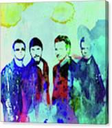 Legendary U2 Watercolor Canvas Print