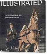 Lemon Drop Kid, 1957 Kentucky State Fair Horse Show Sports Illustrated Cover Canvas Print
