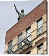 Lenin Statue In East Village N Y C Canvas Print