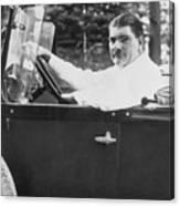 Leonard Kip Rhinelander Seated In Car Canvas Print