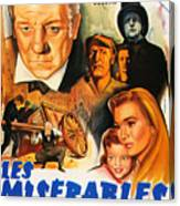 Les Miserables 1958 French Movie Classic Canvas Print