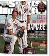 Lets Do Some Damage 2015 Mlb Baseball Preview Issue Sports Illustrated Cover Canvas Print