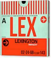 Lex Lexington Luggage Tag I Canvas Print