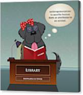 Library Newfie Canvas Print