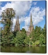 Lichfield spires  Canvas Print