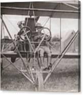 Lieutenant Geiger Sitting In Cockpit Canvas Print