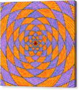 Light Violet On Blue, Yellow On Red Fractal Pattern Canvas Print
