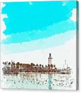 lighthouse 9, watercolor by Adam Asar Canvas Print