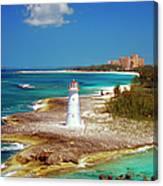 Lighthouse On Paradise Island-nassau Canvas Print