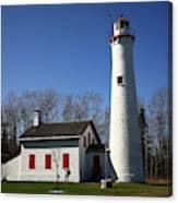 Lighthouse - Sturgeon Point Michigan Canvas Print