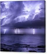 Lighting Sea Canvas Print