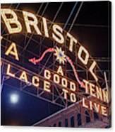 Lighting Up The Bristol Sign Canvas Print