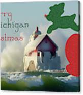 Lightouse Christmas Canvas Print