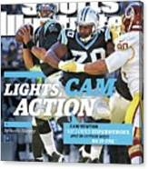 Lights, Cam Action Cam Newton Sports Illustrated Cover Canvas Print