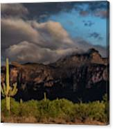 Light Play On The Superstitions  Canvas Print