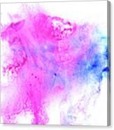 Lilac Blot Canvas Print