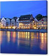 Limmat River Waterfront In Downtown Canvas Print