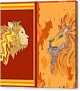Lion Pair Hot Canvas Print