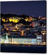 Lisbon In Christmas Time Canvas Print