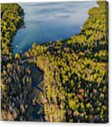 Litte Traverse Lake Vertical Panorama Canvas Print