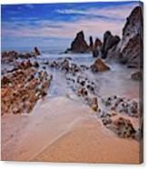 Little Corona Del Mar Beach Vi Canvas Print