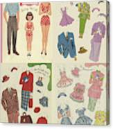 Little Golden Book Paper Doll Sees America Canvas Print