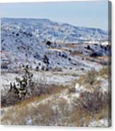 Little Missouri Winter Prairie Canvas Print