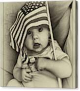 Little Patriot Canvas Print