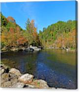 Little River From Little River Gorge Road At Townsend Entrance Canvas Print