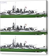 Littorio Class Battleships Port Side Canvas Print
