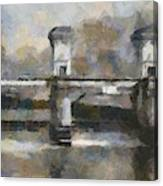 Ljubljana River Barrier  Canvas Print