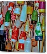 Lobster Buoys Canvas Print