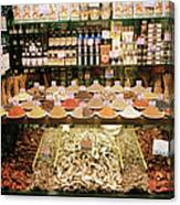Local Foods For Sale In A Store In Canvas Print