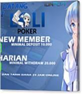 Lolipoker Situs Poker Online Bank Bca 24 Jam Indonesia Canvas Print