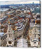 London Skyline St Pauls Cathedral Canvas Print