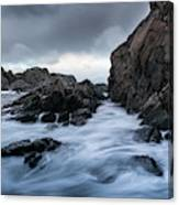 Long Exposure At The Water Canvas Print