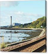 Longgannet Power Station And Railway Canvas Print