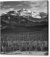 Longs Peak , Rocky Mountain National Canvas Print
