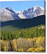 Longs Peak In The Fall Canvas Print