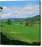looking westwards in Tweed valley Canvas Print