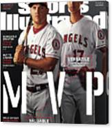Los Angeles Angels Of Anaheim Mike Trout And Shohei Ohtani Sports Illustrated Cover Canvas Print